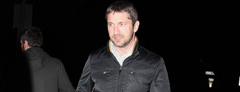 Gerard Butler leaves BOA Steakhouse after reportedly having dinner with Jessica Simpson