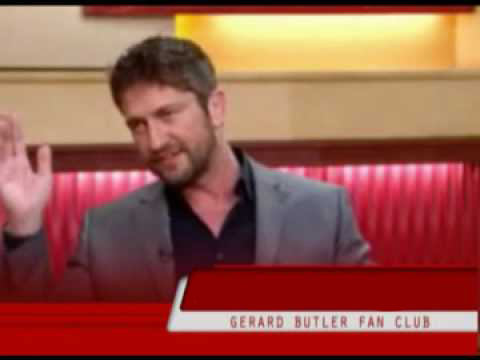Gerard Butler at the Good Morning America studio 2010