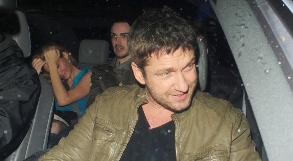 Gerard Butler arrives at China White in London to celebrate his 40th Birthday.