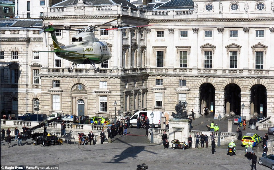 London has fallen Film Set